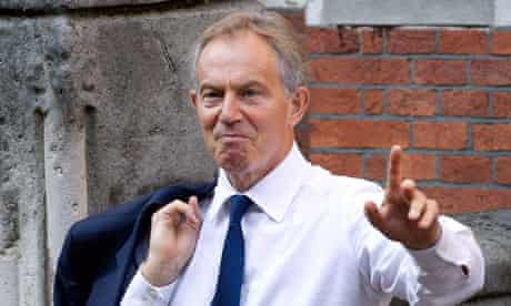 Tony Blair arrives at Leveson inquiry