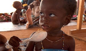 A malnourished child at an aid centre in Maradi, Niger, during a drought in 2005