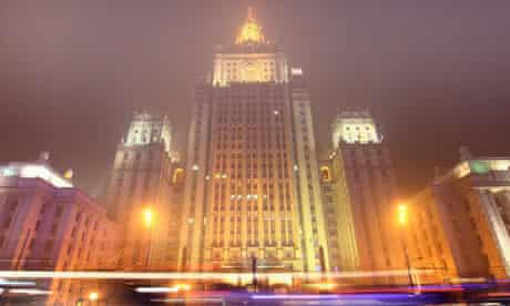 Russia's foreign ministry building in central Moscow