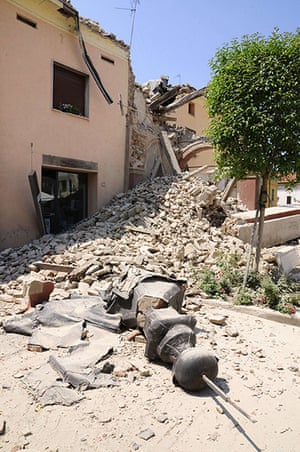 Italy earthquake: Houses damaged after a earthquake in San Felice sul Pannaro