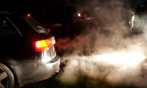 Car exhaust pipe and carbon emissions