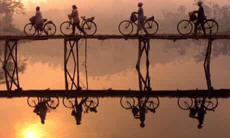 bridge crossing Indonesia