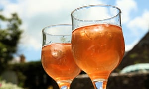 Glasses of slider - cider with sloes