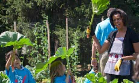 Michelle Obama, Whie House garden