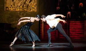 two ballet dancers clashing heads