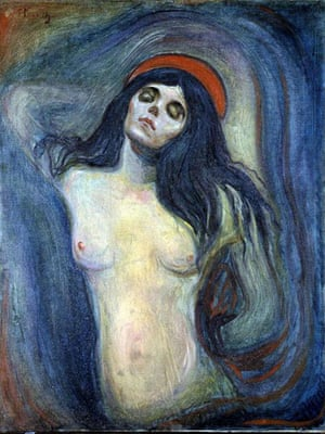 scream gallery: Edvard Munch's Madonna, stolen on 22 August 2004 along with The Scream
