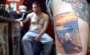 scream gallery: A Dutch man's arm tattooed with The Scream