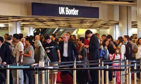 Queues at Heathrow airport, where Border Force staff are set to go on strike