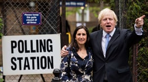 Local elections: Boris Johnson and wife Marina Wheeler after casting his vote in Islington
