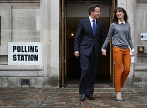 Local elections: Prime Minister David Cameron Casts His Vote In The London Mayoral Elections