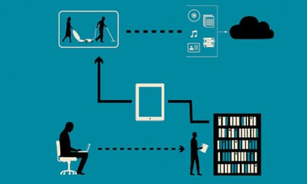 Technology save time illustration: computer says yes