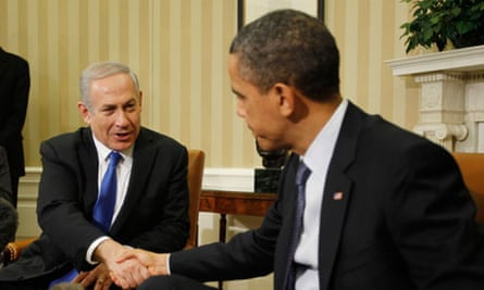 Barack Obama meets with Binyamin Netanyahu in the Oval Office of the White House