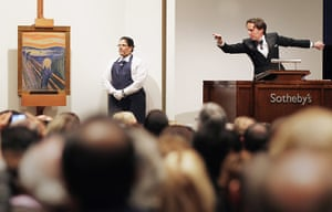 Top ten art auctions: Edvard Munch's, The Scream, auctioned at Sotheby's New York
