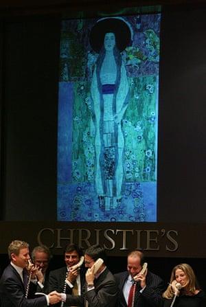 Top ten art auctions: Gustav Klimt's Portrait of Adele Bloch-Bauer II at Christies
