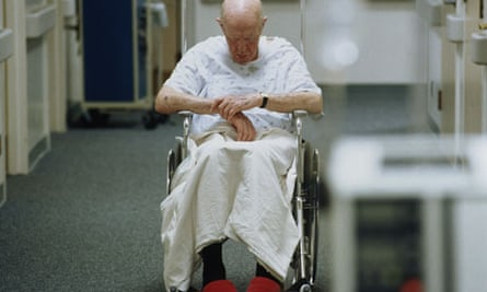 Elderly patient in wheelchair
