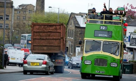 George Galloway's Respect party battle bus