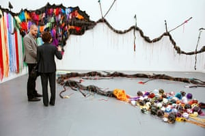 Frieze New York: Ndize: Tail by Nicholas Hlobo at the Stevenson gallery