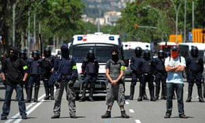Police in Barcelona, during ECB meeting 3 May 2012