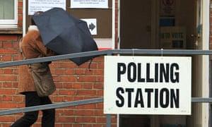 London polling station