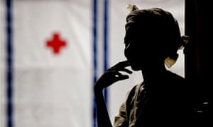 A rape victim at a centre for women traumatised by war, Liberia