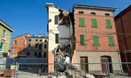 Earthquake aftermath in Cavezzo, Italy, 29 May 2012