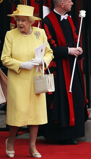 queen fashion: Queen Elizabeth II Royal Wedding