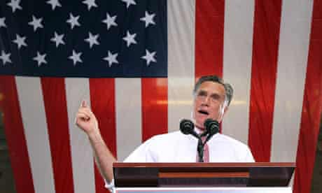 Mitt Romney Campaigns At Local Business In Las Vegas