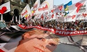Yulia Tymoshenko supporters in April