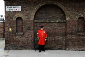 London hosts Olympics: Paddy Fox, 79, a Chelsea Pensioner in Chelsea