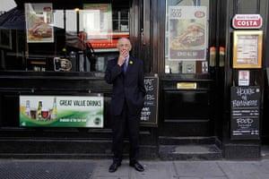 London hosts Olympics: Charley Osborne, 75, an ex-serviceman in central London