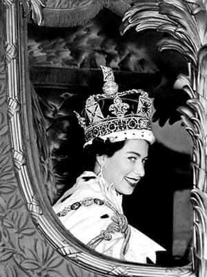 Elizabethans:  The Queen following her coronation