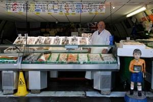 London hosts Olympics: Mash Lorne, 60, a fish seller in Brixton