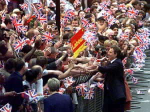 Elizabethans: Tony Blair after winning the General Election 1997