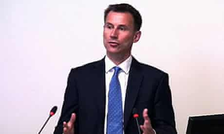 Jeremy Hunt at the Leveson inquiry