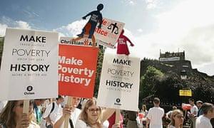 Make Poverty History March In Edinburgh