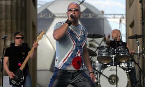 The British band Right Said Fred perform