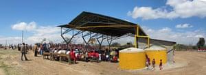 sustainable architecture: Mahiga Hope high school rainwater court, Kenya