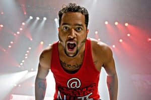 Week in music: Sky Blu of LMFAO performs in Illinois, US on 26 May