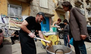 Soup kitchen in Athens, April 2012