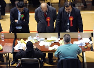 Local elections: Counting of votes gets underway at the Richard Dunn Sports Centre, Bradford