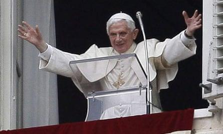 Pope Benedict XVI in Saint Peter's Square, Vatican City
