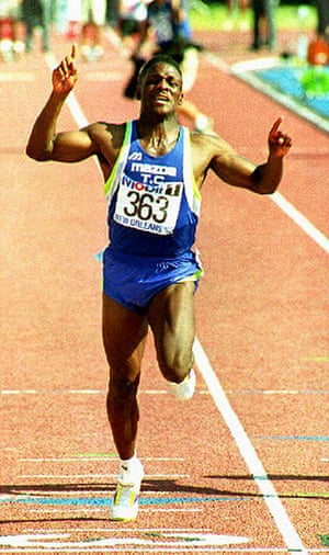 Seoul Olympics: World record holder in the 100 meter dash Carl Lew