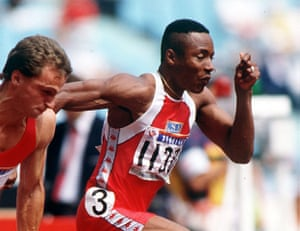 Seoul Olympics: Men's 100 Metres, USA's Calvin Smith 1988