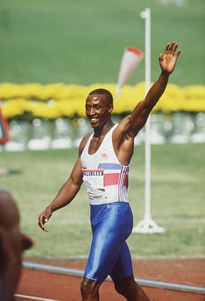 Seoul Olympics: Linford Christie of Great Britain