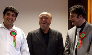 Lcoal elections: George Galloway with supporters at the party's Bradford HQ