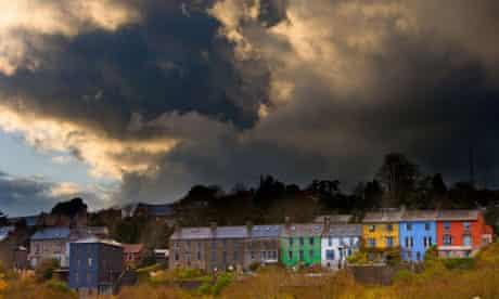 Storm over houses, County Cork, Ireland