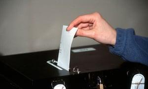 Elections ballot box