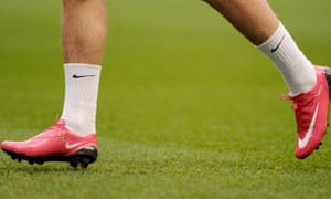 Footballer in nike boots