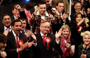 Local elections: Gordon Matheson celebrates with supporters as results are read out, Glasgow