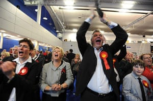 Local elections: Labour supporters celebrate another gain from the Liberal Democrats